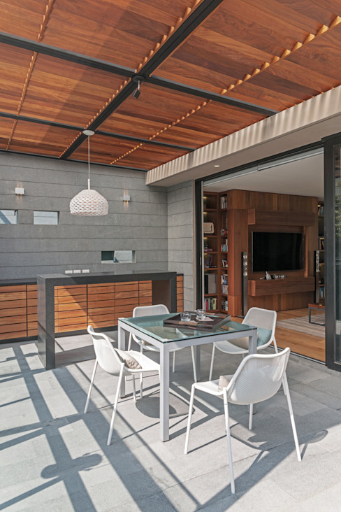 Faci Leboreiro Arquitectura Moderner Balkon, Veranda & Terrasse