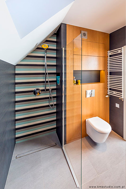 kmb studio Modern style bathrooms