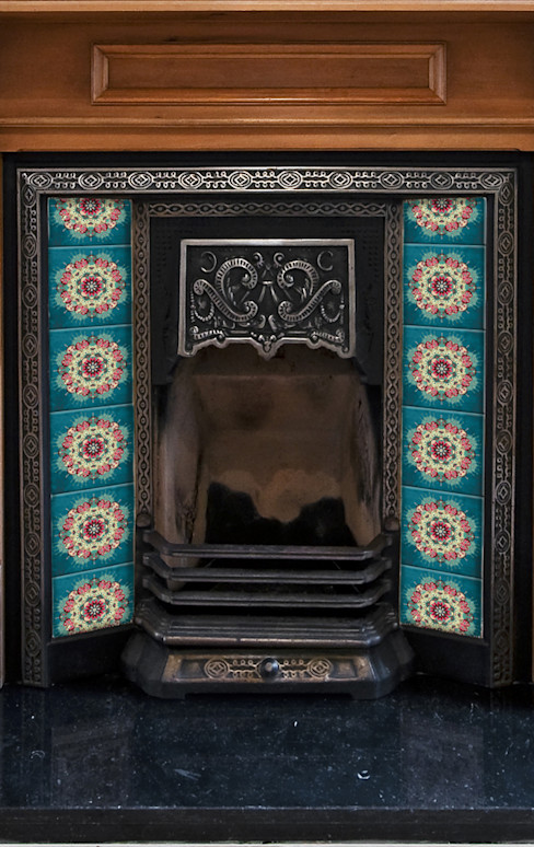 Floral Fireplace Tile Fire Ltd. 거실액세서리 & 장식