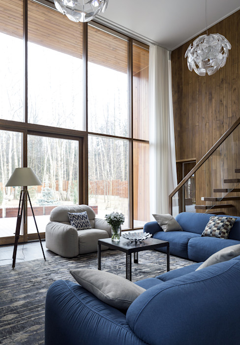 ALEXANDER ZHIDKOV ARCHITECT Scandinavian style living room