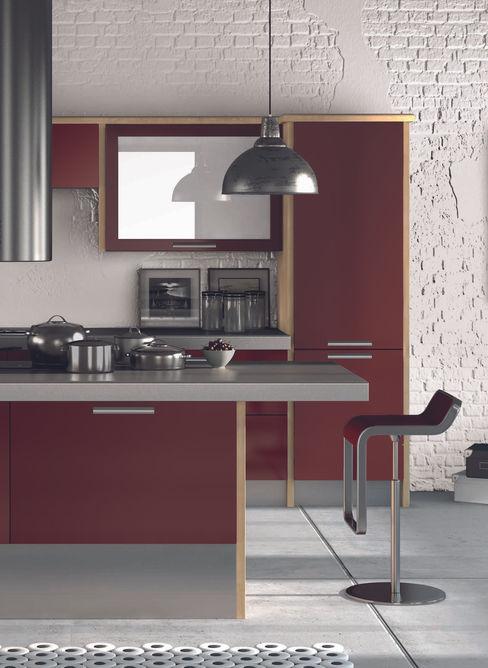 DM Design Burgundy Door Range DM Design Modern kitchen