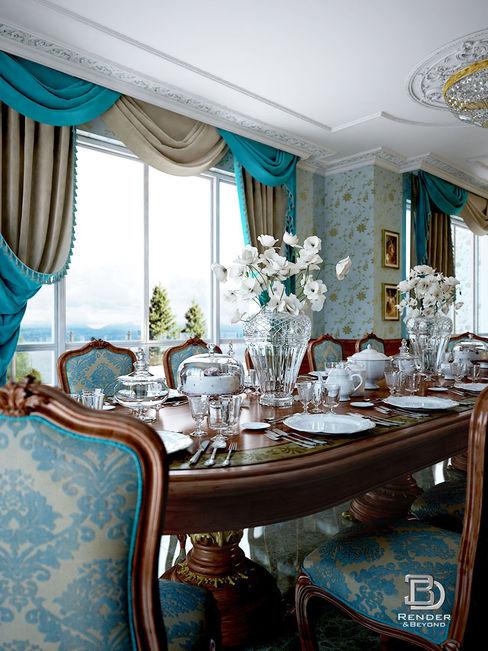 Sala da Pranzo e Salone 3D Render&Beyond Sala da pranzo in stile classico
