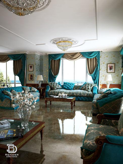 Dining and Living Room 3D Render&Beyond Вітальня