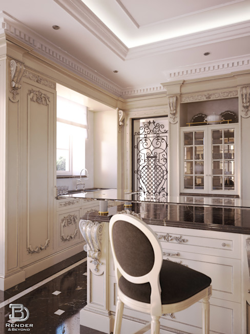 Kitchen 3D Render&Beyond Dapur Klasik