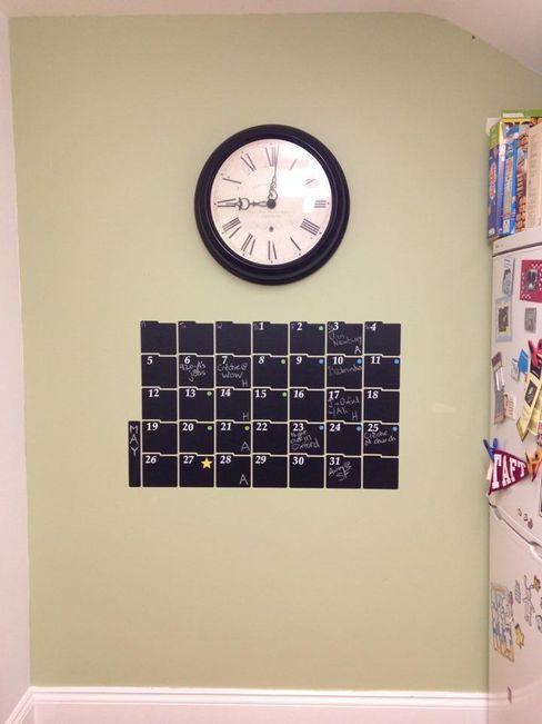 Chalkboard Calendar Wall Sticker homify Moderne Küchen