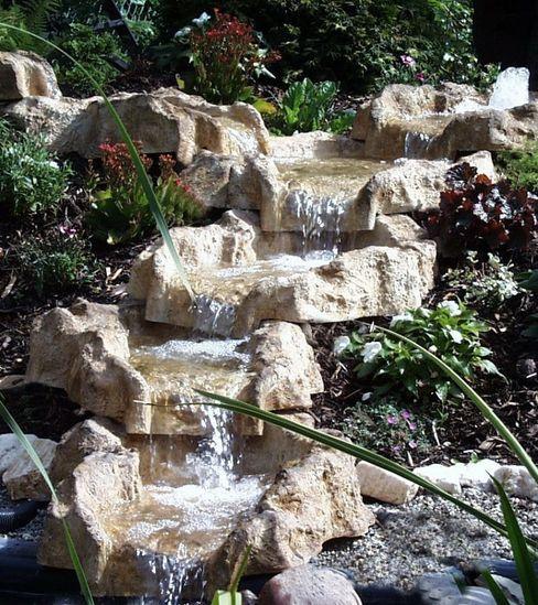 Wassefall wasserkaskaden.de Rustikaler Garten