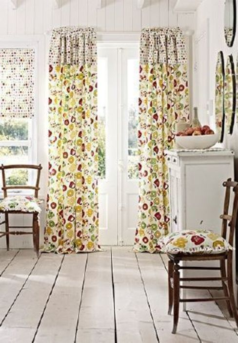 Prestigious Textiles - Pickle Fabric Collection Curtains Made Simple Country style living room