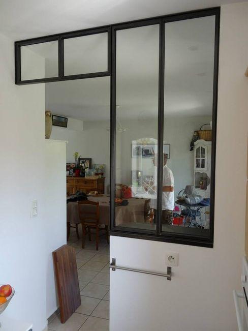 verrière intérieure - cloison séparation pour cuisine L.Decor Couloir, entrée, escaliers industriels