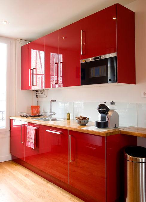 Réunion de 2 appartements en duplex -Paris-18e ATELIER FB Cuisine moderne