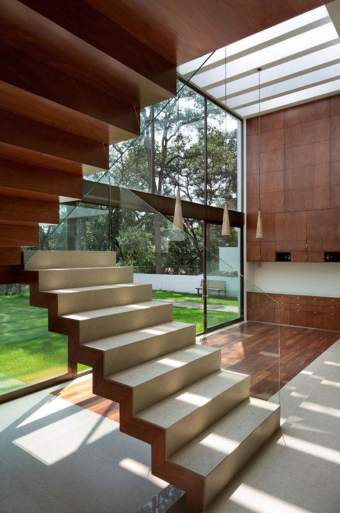 P& B homify Pasillos, vestíbulos y escaleras modernos