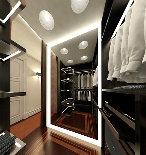 KOSHKA INTERIORS Eclectic style dressing rooms