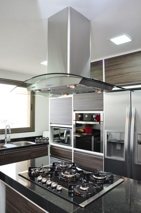cozinha com ilha Angela Meira arquitetura Cozinhas modernas