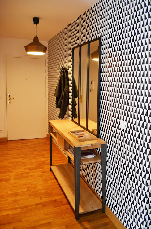 Sandrine Carré Scandinavian style corridor, hallway& stairs