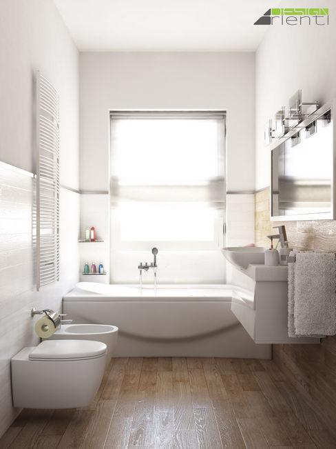 Arienti Design Modern bathroom Tiles Wood effect