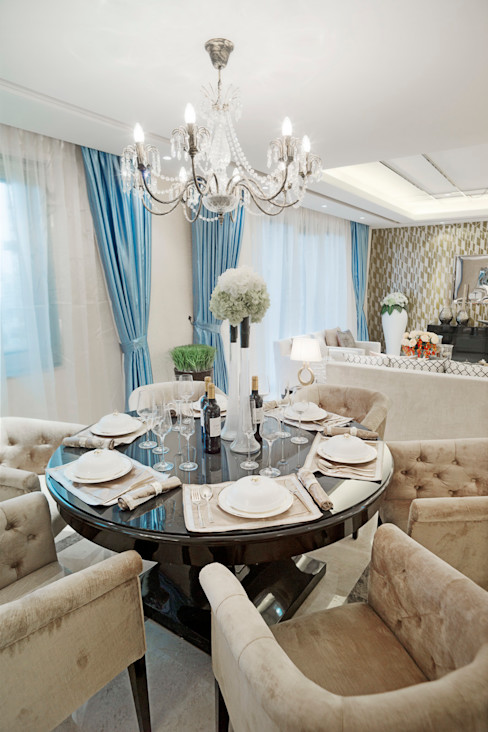 Metropolitan Heights | High-End Apartment by London homify Modern dining room