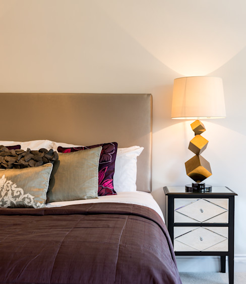 Bold and bright splahes : Soft furnishing : Bedroom 1 In:Style Direct Modern Bedroom
