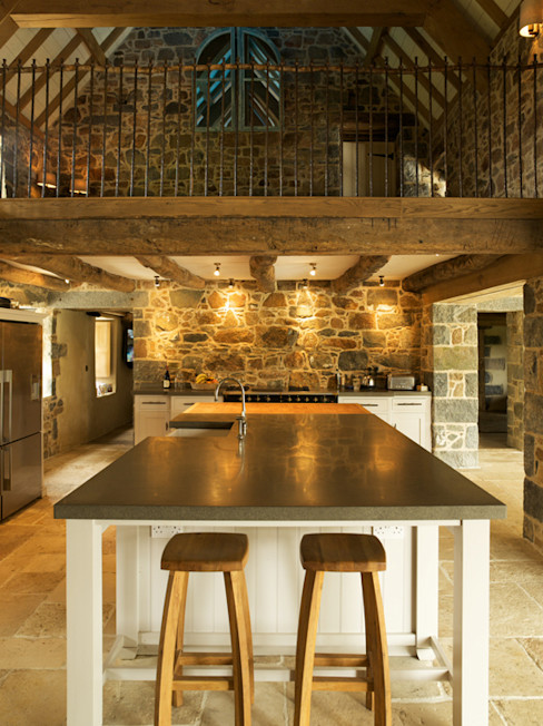 Les Prevosts Farm CCD Architects Rustic style kitchen