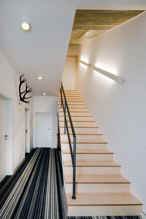 w. raum Architektur + Innenarchitektur Modern corridor, hallway & stairs