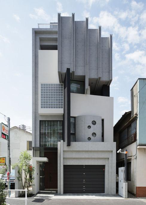 平野智司計画工房 現代房屋設計點子、靈感 & 圖片 Grey