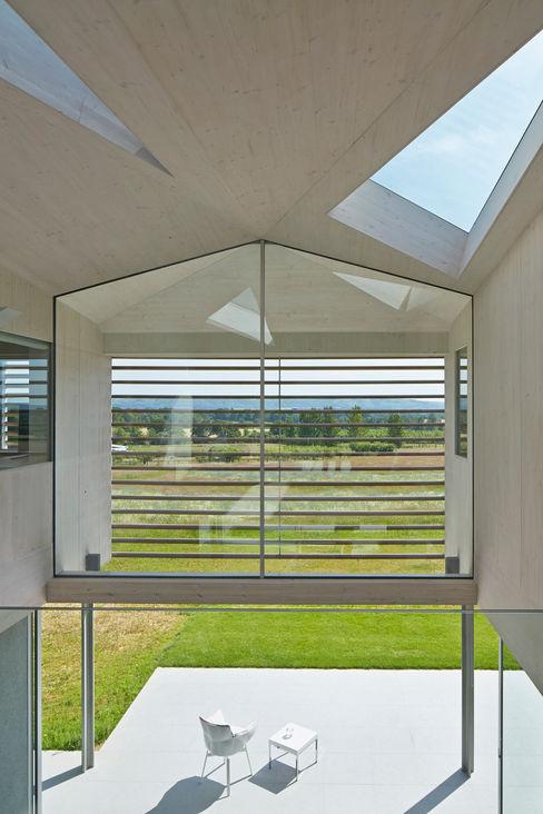 Interior Reception Space Wilkinson King Architects Modern balcony, veranda & terrace