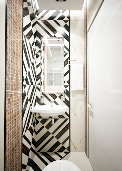 Студия архитектуры и дизайна ДИАЛ Bagno minimalista