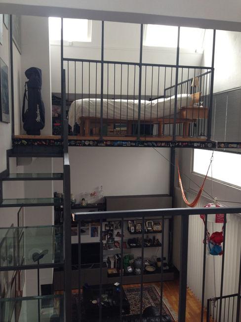 loft residenziale studio architettura terzaghi Camera da letto moderna