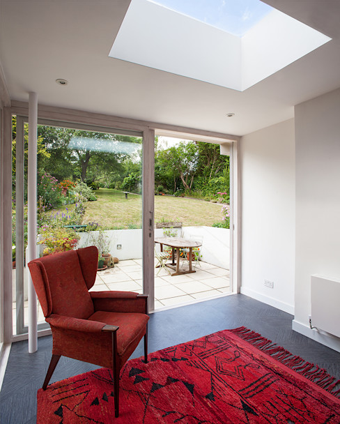 Private House in Epsom, Surrey Francesco Pierazzi Architects Moderner Wintergarten Weiß