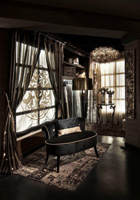 Cortinas a medida Grupo Lober Dormitorios de estilo ecléctico