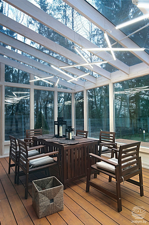 ZROBYM architects Minimalistischer Balkon, Veranda & Terrasse