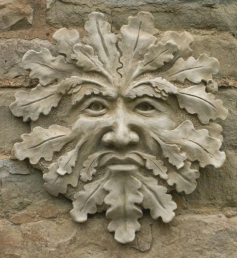 Green Man Garden Ornament 'Blackwell' Marble Inspiration GiardinoAccessori & Decorazioni