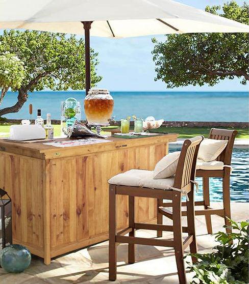 Barra Bar De Interior Exterior, Pino Oregon, Eterna Mundo Garden JardínMobiliario Madera maciza Acabado en madera