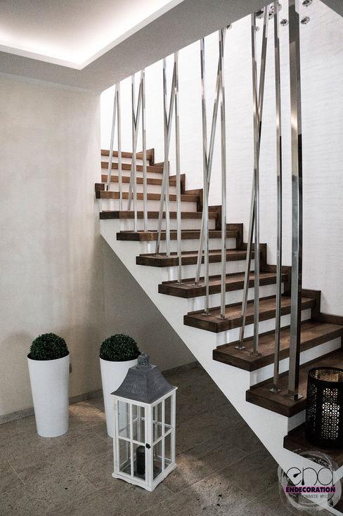 Dom pod Zambrowem EnDecoration Nowoczesny korytarz, przedpokój i schody