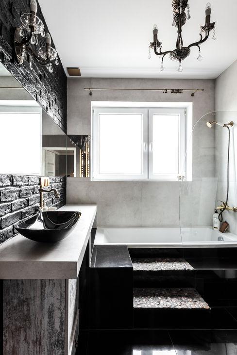 Łazienka styl eklektyczny - trochę klasyki, trochę nowoczesności i zabawa formą ! Archikąty Eklektyczna łazienka