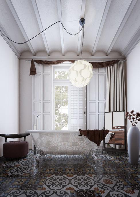 Apartamento 2vsarq Baños de estilo escandinavo