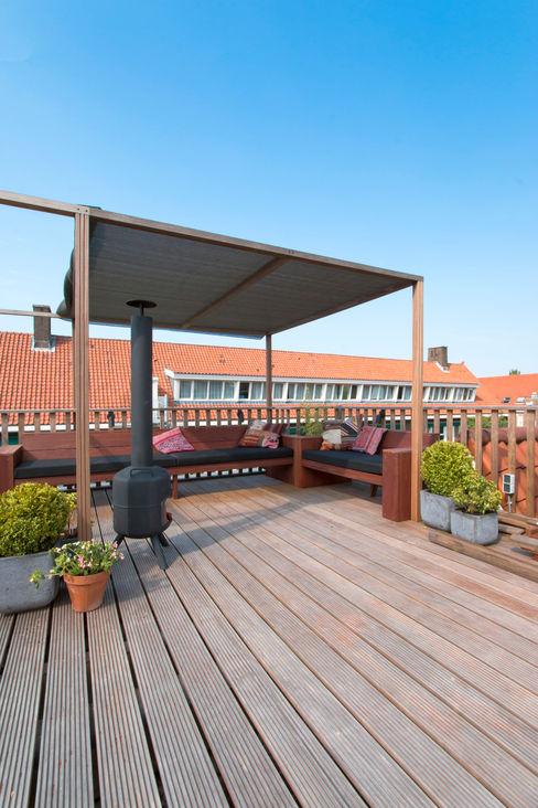 Dakterras Hoope Plevier Architecten Moderne balkons, veranda's en terrassen