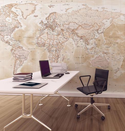 World Map Wallpaper Love Maps On Ltd. Study/officeAccessories & decoration