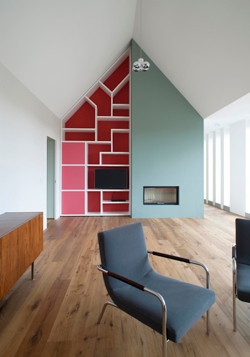 Dachwohnung Köln Bachmann Badie Architekten Moderne Wohnzimmer