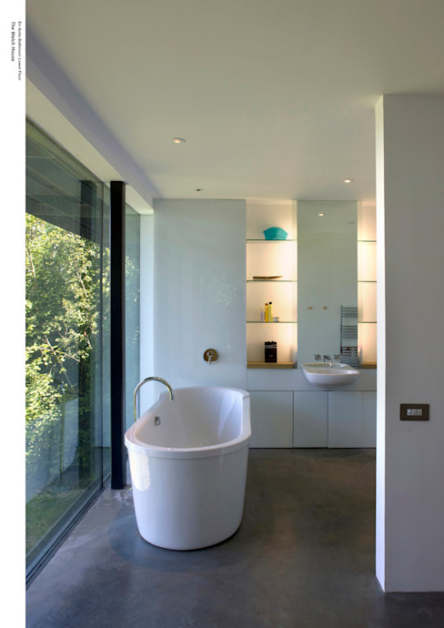 Welch House The Manser Practice Architects + Designers Baños de estilo moderno