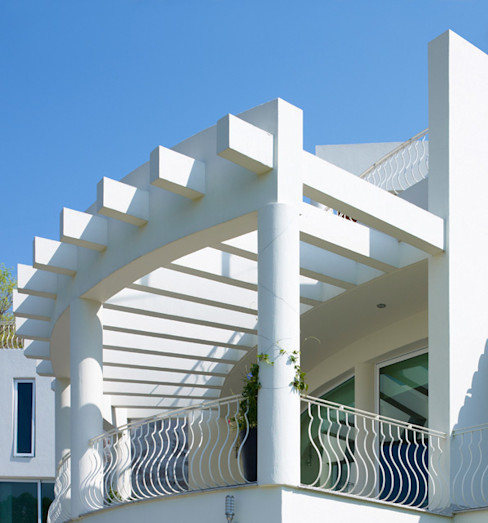 Excelencia en Diseño Varandas, marquises e terraços modernos