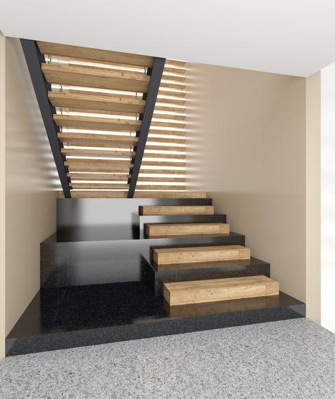 Casa EF Taller Habitat Arquitectos Pasillos, vestíbulos y escaleras modernos