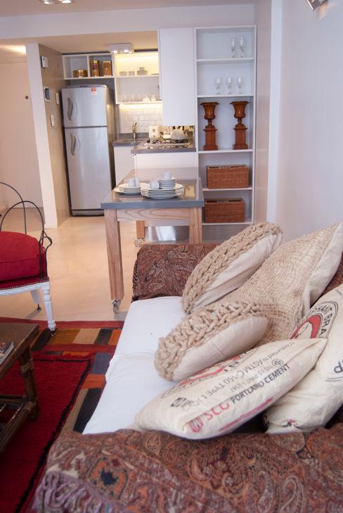 Fotos duplex en Recoleta GUTMAN+LEHRER ARQUITECTAS Moderne Wohnzimmer