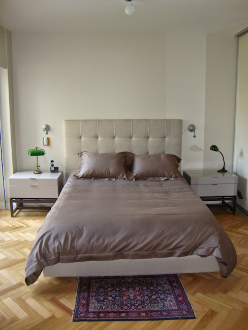 Dormitorio en suite después de intervención Hargain Oneto Arquitectas