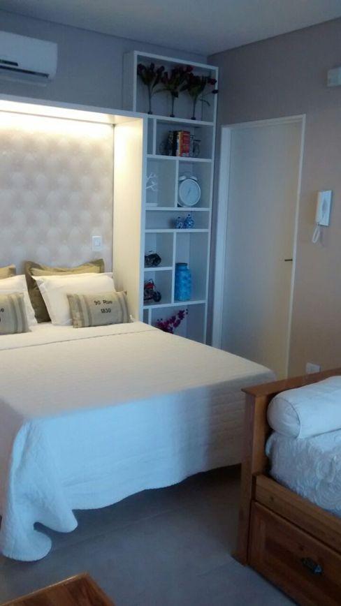 MinBai Moderne Schlafzimmer Holz Weiß
