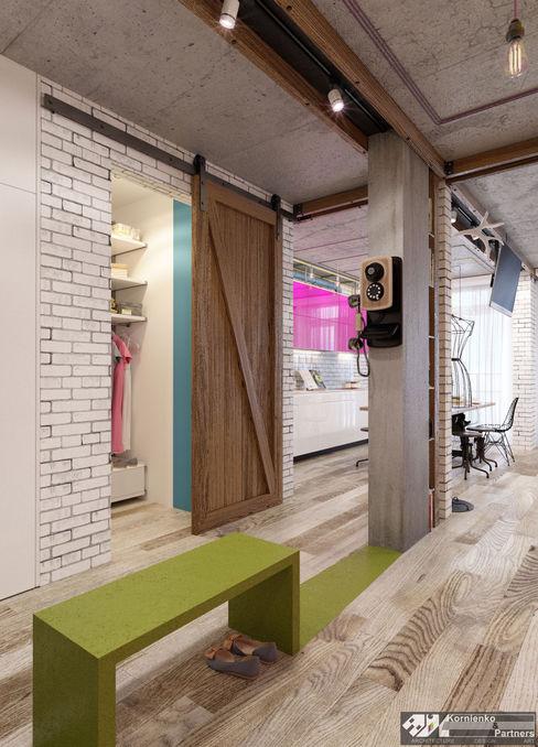Kornienko-Partners Eclectic style corridor, hallway & stairs