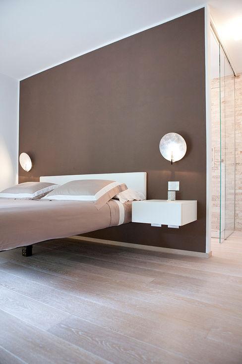 Rovere decapato per pavimentazione Semplicemente Legno Camera da letto minimalista Legno