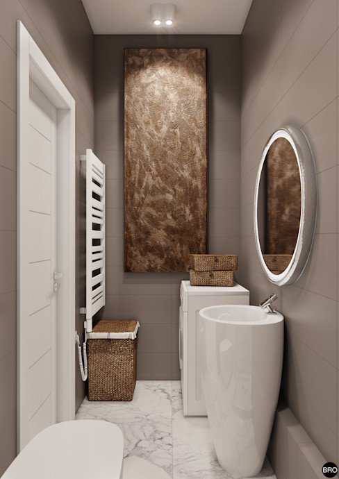 BRO Design Studio Minimal style Bathroom