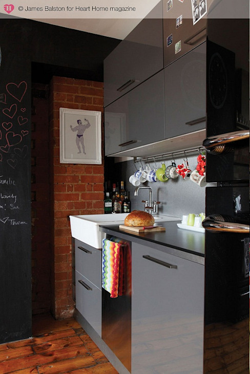 A Converted Warehouse in East London Heart Home magazine Industrial style kitchen