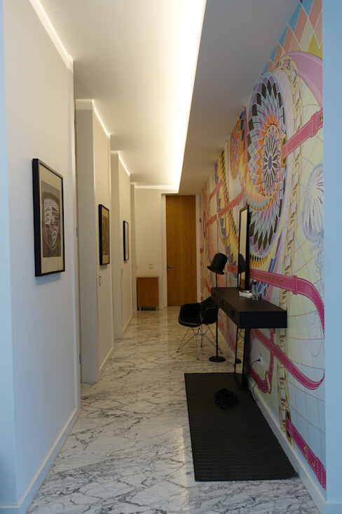 J.Design Modern Corridor, Hallway and Staircase Multicolored