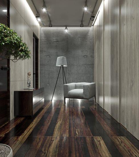 MC Interior Minimalist corridor, hallway & stairs
