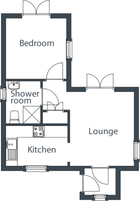 One bedroom Wee House Floor Plan The Wee House Company Classic style houses